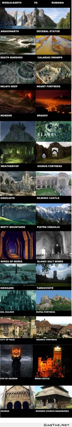 Middle Earth vs Romania... Romania is the real Middle Earth