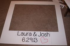 make your own giant polaroid frame, polaroid photo booth, wedding DIY polaroid