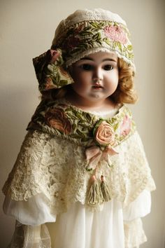 stunning antique doll