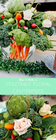 How to Make a Vegetable Floral Centerpiece – Jordan's Easy Entertaining Floral Centerpieces, Floral Arrangements, Centerpiece Ideas, Peter Rabbit Party, Table Setting Inspiration, Easy Entertaining, Do It Yourself Home, Craft Party, So Little Time