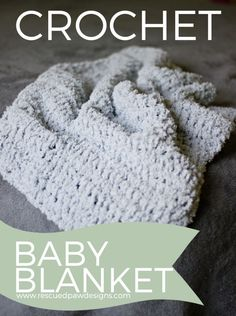 So Soft Baby Blanket Crochet Pattern by Rescued Paw Designs - Click to Read or Pin and Save for Later!