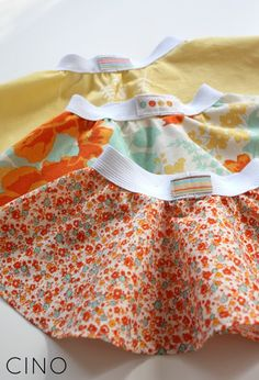 Circle skirts to go with all her onesies! Make double layer, tulle fringe, all sorts.