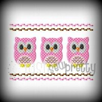 Smocked Owls 5x7 Design**