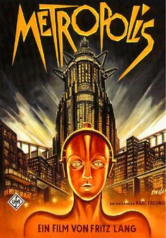 Metropolis is a 1927 German expressionist science-fiction film directed by Fritz Lang. The film was written by Lang and his wife Thea Von Harbou, and starred. Classic Movie Posters, Movie Poster Art, Classic Films, Print Poster, Art Print, Poster Design, Metropolis Poster, Metropolis 1927, Invictus Film
