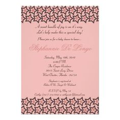 5x7 Pink & Brown Rock Star Baby Shower Invitation Personalized Invitations