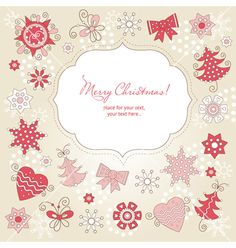 Christmas greeting card vector on VectorStock®