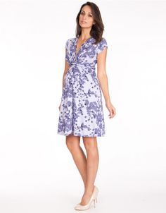 Lavender Blossom Knot Front Maternity Dress profile. Worn by DOC