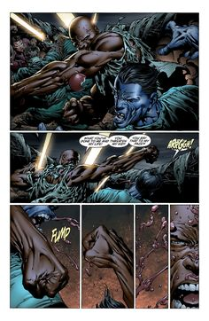 Comic Book Pages, Comic Books, Misty Knight, David Finch, Power Man, Splash Page, Luke Cage, New Avengers, Wolverine