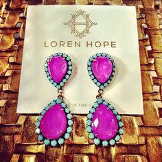 Electric purple + turquoise