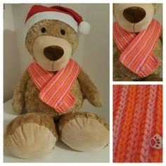 Baby crochet scarf ♡häkel schal♡ neon rosa pink