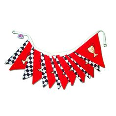 Pit Stop - Bringing a smile to style, our adorable children's home décor range is the perfect addition to any themed room or party.  A must for any young racing fan, this contemporary design cleverly combines black and white chequers with bold racing red.  Each trophy is densely embroidered using rich gold fabric.