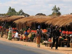 Africa: Zambia Market I by Peetie on DeviantArt Shops, Deviantart, Marketing, Adventure, Drawing, Country, Architecture, Arquitetura, Tents