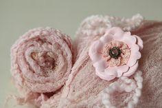 Textured open weave soft vintage pink newborn by greenearthstudio, $17.95