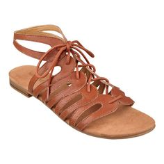 """Our Fenwick lace-up, open toe gladiator sandals are as comfortable as they are beautiful. And look at the colors! Padded footbed for all-day comfort. Leather upper. Man-made lining and sole. Imported. 1/4"""" heels. Women's gladiator sandals."""