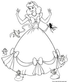 Printable #cinderella #coloring pages for #kids