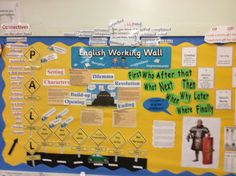 Year 6 have been building up their writing wall to write a story with a dilemma.