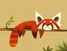 Red Panda by Canvascope.deviantart.com on @deviantART