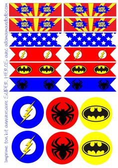 Anniversaire Super Hero : Sweet Table Super Hero et Free Printable Batman Birthday, Batman Party, Superhero Birthday Party, Boy Birthday, Anniversaire Wonder Woman, Super Hero Food, Spiderman Theme, Usa Party, Superhero Baby Shower