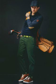 Going for a round of golf, very smartly dressed. Golf Fashion, Mens Fashion, Fashion Outfits, Prep Style, My Style, Golf Day, Mens Trends, Mens Golf, Well Dressed Men