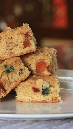 Blondies with Fruits and Nuts
