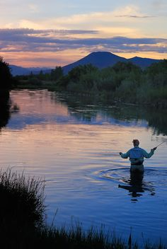 Fly Fishing. Silver Creek. Idaho.