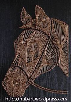 String Wall Art, Nail String Art, String Art Templates, String Art Patterns, Diy Yarn Decor, Yarn Crafts, Embroidery Cards, Hand Embroidery, Textile Sculpture