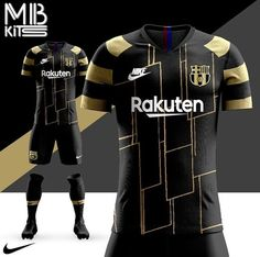 FC Barcelona black and gold third kit concept🖤⚽️ Soccer Kits, Football Kits, Jersey Font, Soccer Drawing, Sports Jersey Design, Sports Drawings, Chapo, Soccer Outfits, Soccer Uniforms