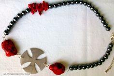 Κολιέ αιματίτη με κοράλλια!!!!!!!!!!!!!!!!!!!!!!!!! Jewelry, Fashion, Moda, Jewlery, Jewerly, Fashion Styles, Schmuck, Jewels, Jewelery