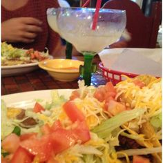 Tacos, Salad and Beans and a super delicious margarita from Torito's. Happy Cinco de Mayo!