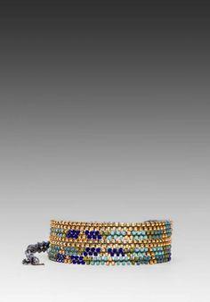 CHAN LUU Wrap Bracelet in Blue Mix