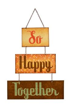 """Hanging Metal Sign - """"So Happy"""" by Iron Trade Imports on @HauteLook"""