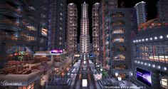 An entire city, a playable guitar, working computer and more amazing projects have been made in Minecraft. All Minecraft, Amazing Minecraft, Minecraft Projects, Minecraft Designs, Minecraft City Buildings, Minecraft Architecture, Minecraft Houses, Minecraft Creations, Sandbox