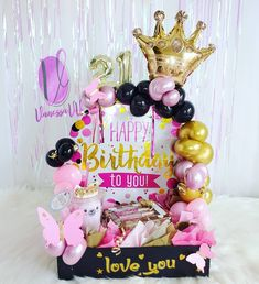 Chocolate Gift Boxes, Balloon Decorations Party, Paper Crafts, Diy Crafts, Event Decor, Gift Baskets, Diy For Kids, Balloons, Happy Birthday