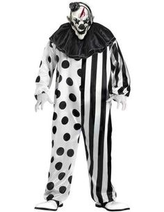 Scary Clown Costume  sc 1 st  Pinterest & Evil Clown Man Mens Halloween Costume Adult Large Scary Bloody ...