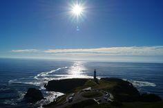 mar, océano, sol, costa, faro, guía, 1707171042