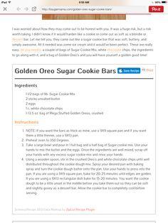Golden Oreo Sugar Cookie Bars