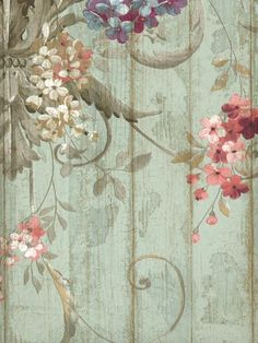 - Hand Painted Volume Two Wallpaper Bird Wallpaper Bedroom, How To Hang Wallpaper, Hand Painted Wallpaper, View Wallpaper, Wallpaper Decor, Rose Wallpaper, Pattern Wallpaper, Shabby Chic Colors, Decoupage