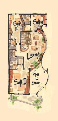 Narrow House Plan Jardim - aboveallhouseplans.com. 1700 sq.ft.