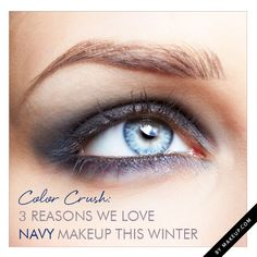 3 Reasons We Love Navy Makeup this Winter // plus ways to wear it!