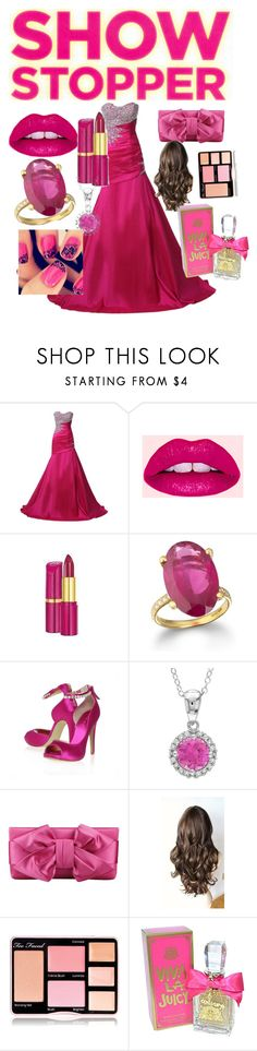 """""""Show stopper"""" by carcar02 ❤ liked on Polyvore featuring Lime Crime, Rimmel, Nine West, Valentino, Too Faced Cosmetics and Juicy Couture"""