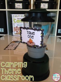 Camping classroom theme kit with everything you need to decorate and organize your classroom!