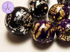 Tutorial: Perle Cracklè in Fimo (polymer clay cracklè beads)