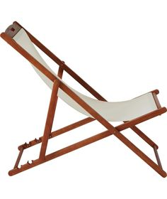 Buy Deck Chair - Cream at Argos.co.uk - Your Online Shop for Garden chairs and sun loungers.