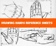 Here is another round of hands reference sheets to help you learn how to draw hands. You should bookmark this page and come back to it often...hands are always tricky and it is good to have some reference images to help you along.