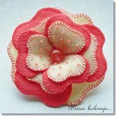 *FELT ART ~ Strawberries in vanilla | by Anna Zaprzelska