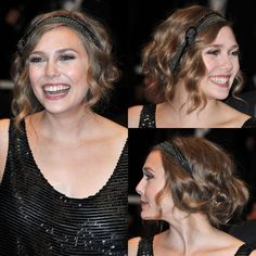 How to Get Elizabeth Olsen's La Belle Époque Hairstyle Elizabeth Olsen may have two very famous older sisters, but she's blazing her own trail as an actress and style star. At the premiere of Martha Marcy May Elizabeth Olsen, 1940s Hairstyles, Headband Hairstyles, Wedding Hairstyles, Flapper Hairstyles, Hairstyle Tutorial, 1920s Hair Tutorial, Finger Wave Hair, Finger Waves