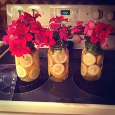 Skits mason jar idea-- the lemons are kind of cute Mason Jar Centerpieces, Centerpiece Ideas, 80th Birthday, Birthday Ideas, Mason Jar Crafts, Mason Jars, Lemon Flowers, Table Clothes, Flowers In Jars