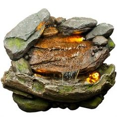 Adding the Stone and Wood Finish Fountain by Bond to your garden is a perfect way to add great looks and soothing water sounds. This beautiful garden with soft and warm lights fall over the water tumbling over mossy stones and sticks gives a natural beauty and charm to the whole structure and illuminates to provide striking accent at night. Features : Weight - 38.5 Dimensions - 23.62x21.65x17.72 Weight of the Master Case - 47.3 Dimensions of the Master Case- 26.57x20.67x24.8 Constructed of…