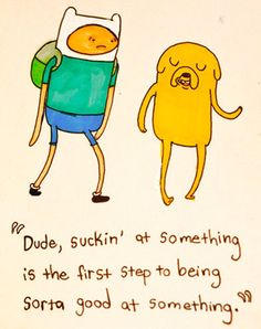 The first step.