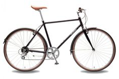 Matte Black Dandy City Bike - Lightweight Hybrid Commuter Bicycles